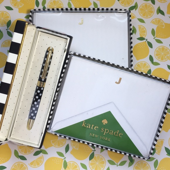 COPY - Kate Spade Stationary Note Cards Ball Poin…